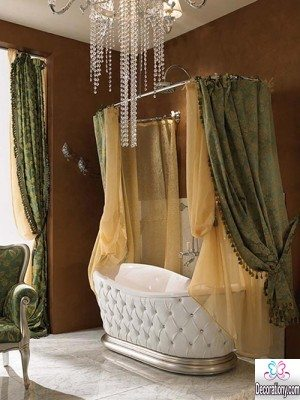 classic bathroom curtains ideas