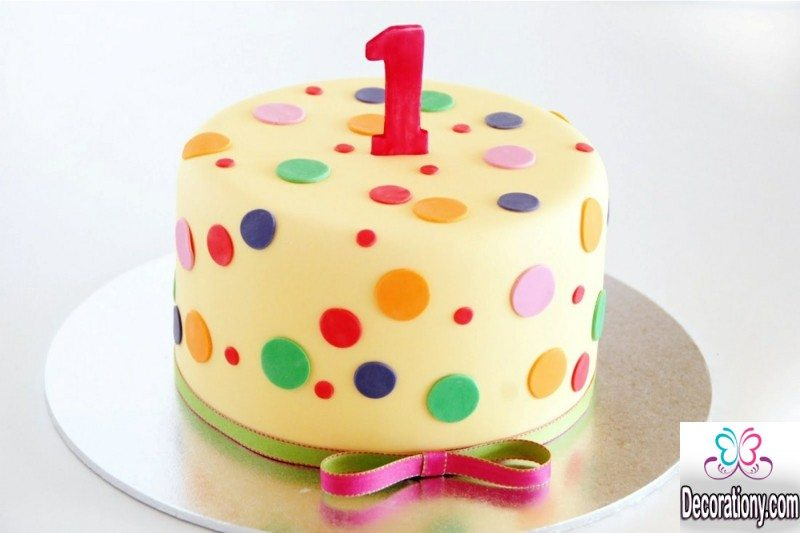 colorful birthday cake for kids
