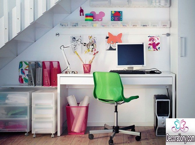 creative home workspace
