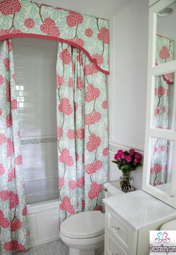 floral bathroom curtains