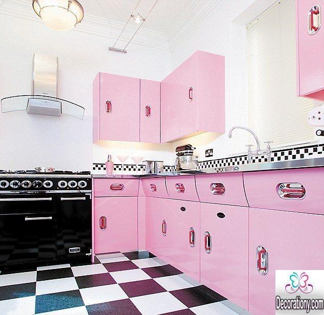 pink kitchen decoration