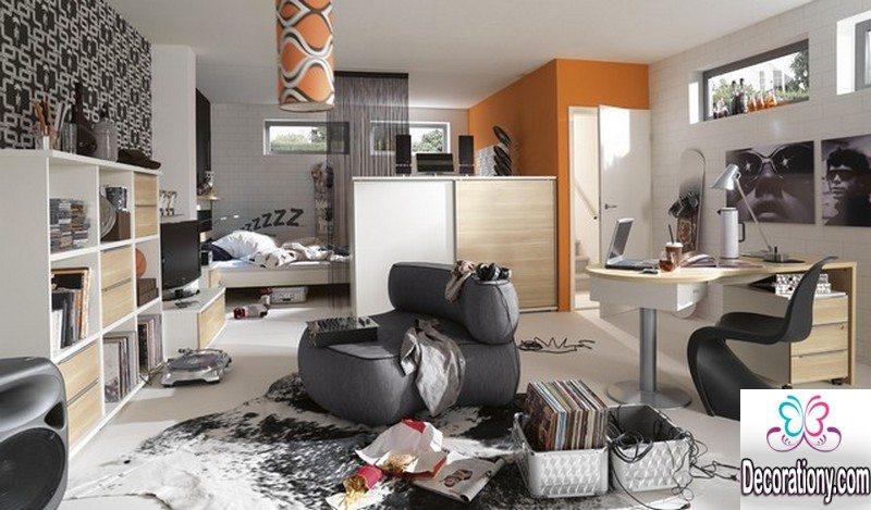 gray guys bedroom design