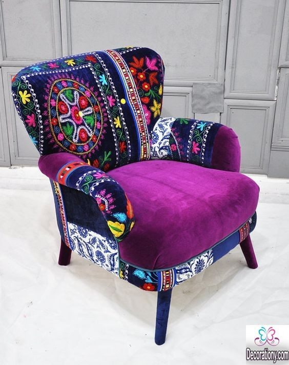 Creative Patchwork Chair Design For The Living room