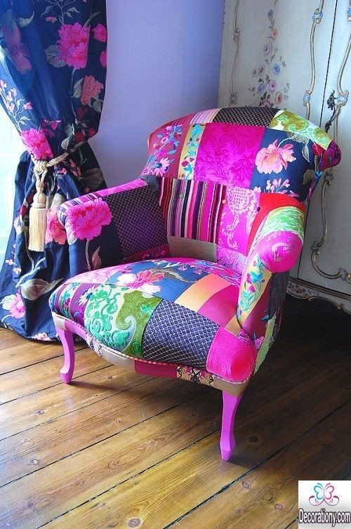 Creative patchwork chair design for the living room for Patchwork couch