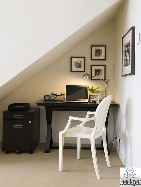 home office design under Stairs