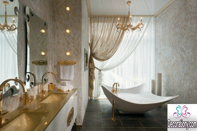 luxury bathroom curtains