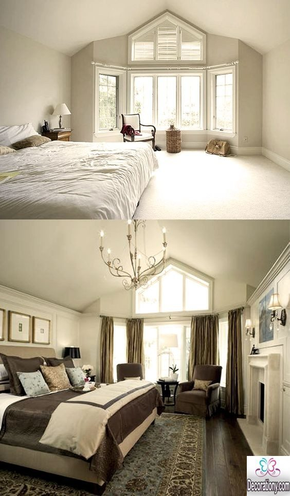 headboard ideas for slanted ceilings - Inspirational Bedroom Makeover Before and After Ideas