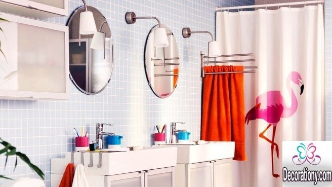 modern curtains for bathroom