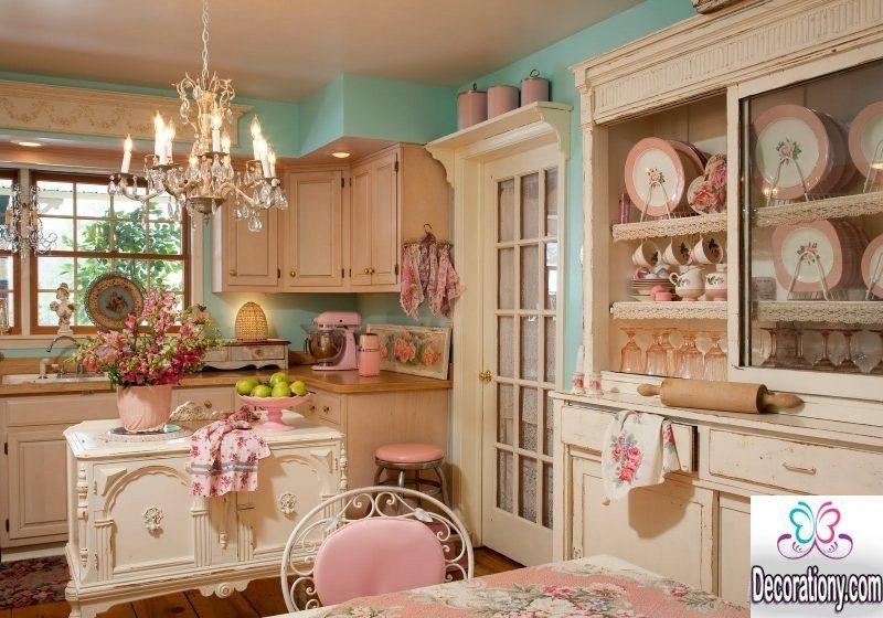 nice kitchen in pink