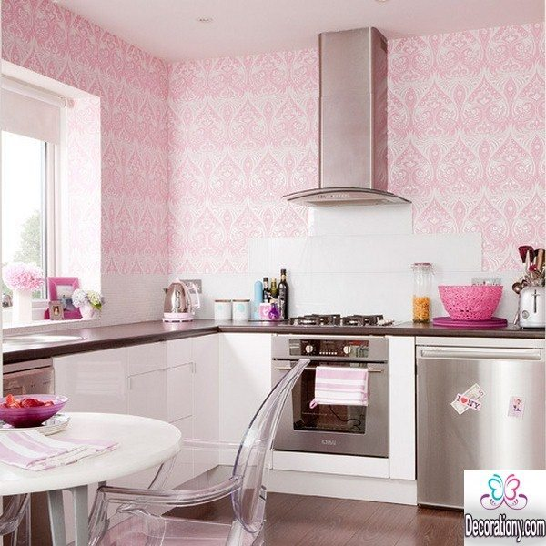 25 nice kitchens decorating ideas with a pink color kitchen Kitchenette decorating ideas