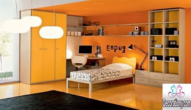 orange boys bedroom