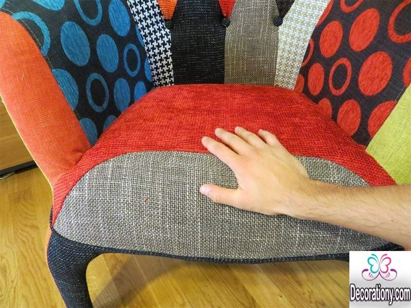 patchwork chairs design for the living room