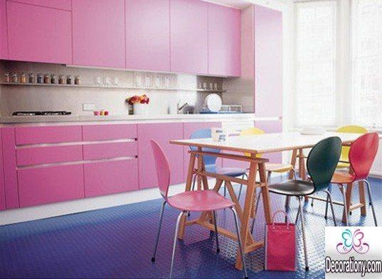 pink kitchen decorate