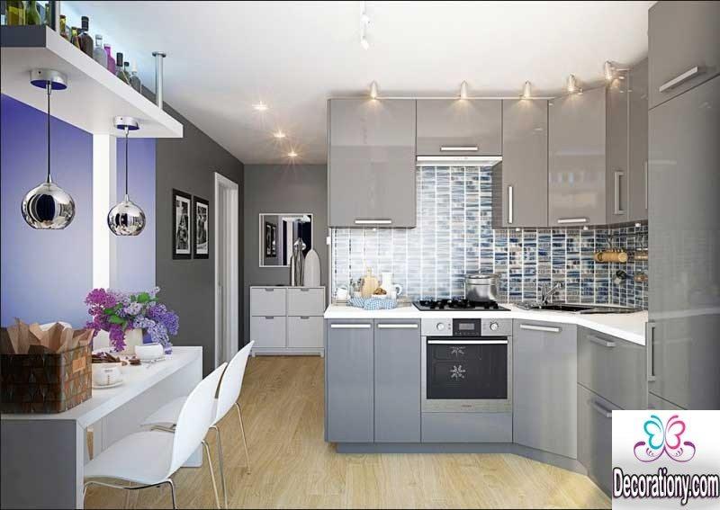 silver kitchen design