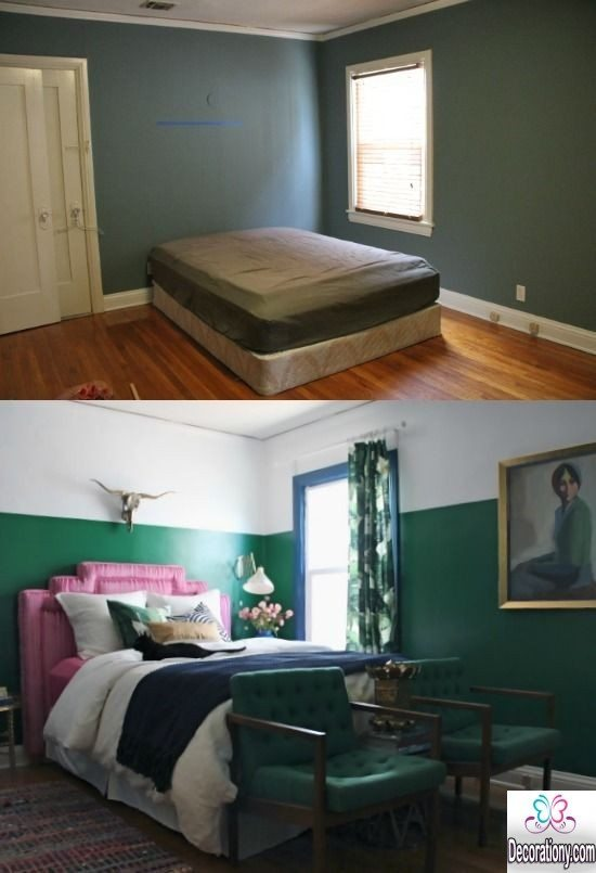 small bedroom decor - Bedroom Makeover before and after ideas