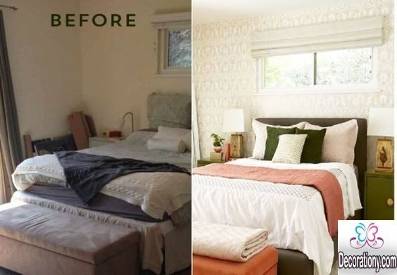 small bedroom updated - bedroom makeover before and after ideas