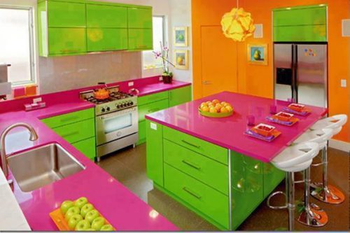 spring kitchen decoration