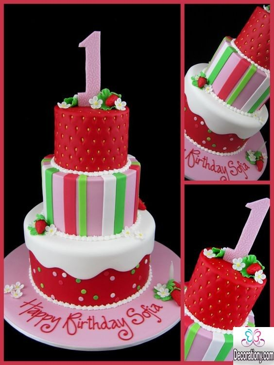 strawberry bithday cakes for girls