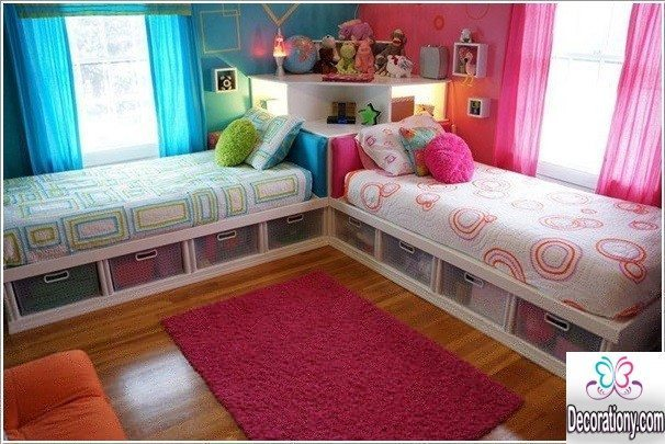 twins bedroom for girls