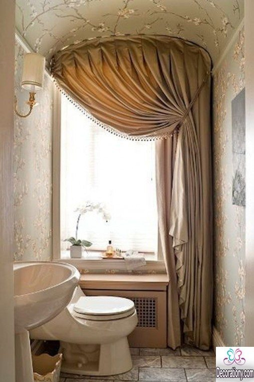 unique bathroom curtains