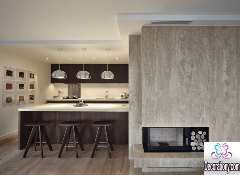 unique open kitchen style
