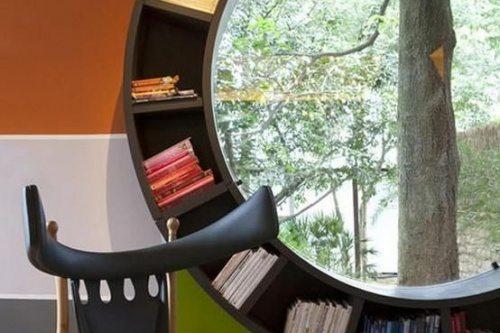 Book case window