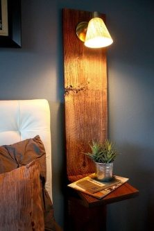 Modern Bedside table with lamp