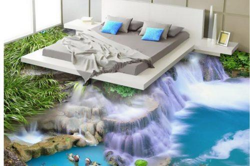 amazing bedroom 3d flooring