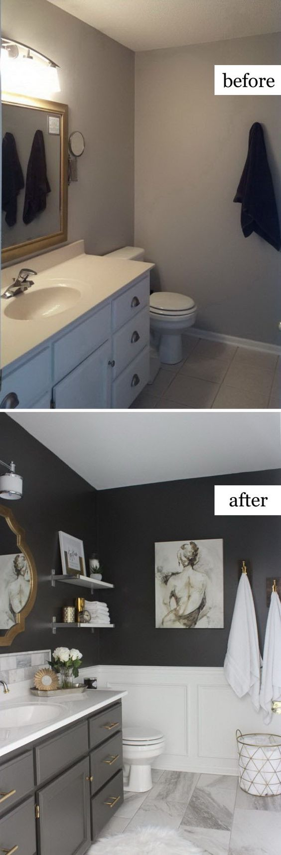 10 before and after bathroom remodel ideas for 2016 2017 for Bathroom wall remodel ideas