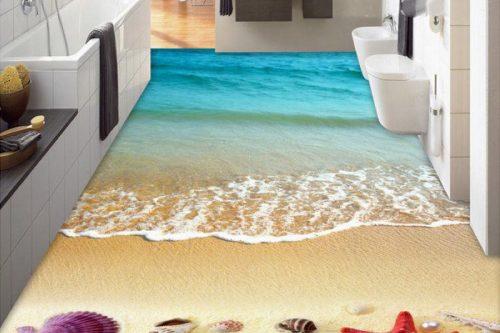 beautiful bathroom flooring design