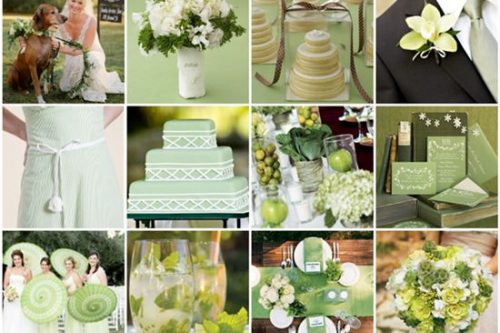beautiful green and white wedding