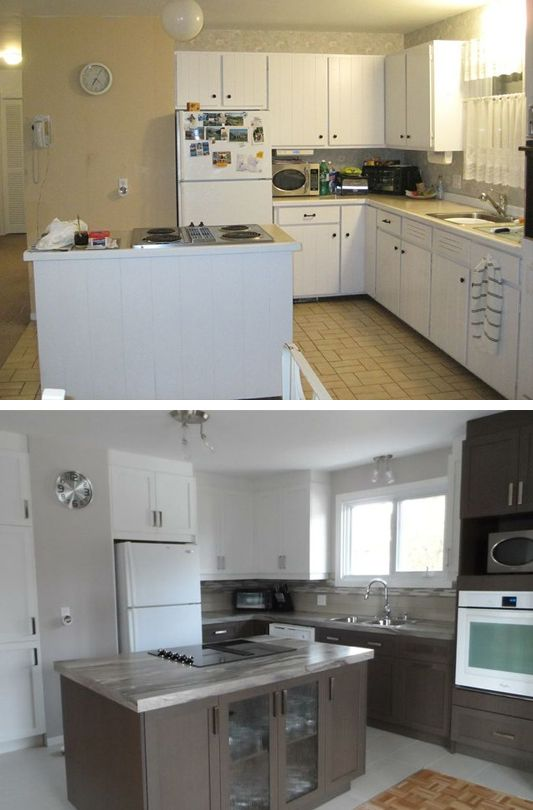 before and after Kitchen remodeling