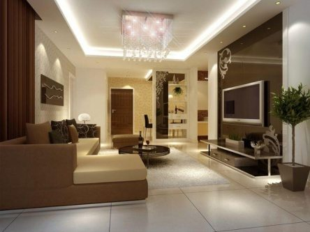 brown living room painting color