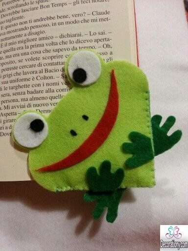 DIY Frog Bookmark