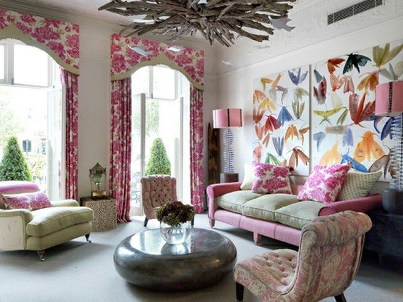Living room decorating ideas with pastel colors for summer for Colorful living room ideas with pictures