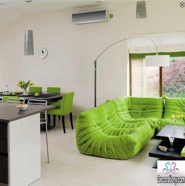 home interior design in bright colors