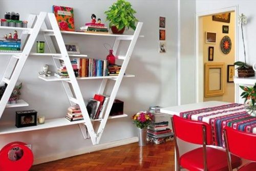 diy decor with old ladder