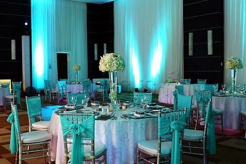 aqua summer wedding colors