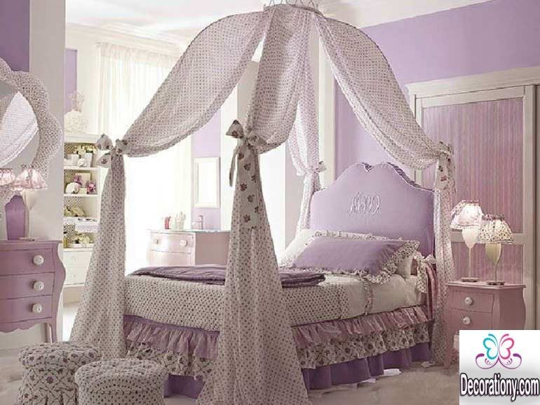 bed curtain idea for little girls