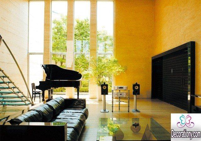 orange home interior designs 2018