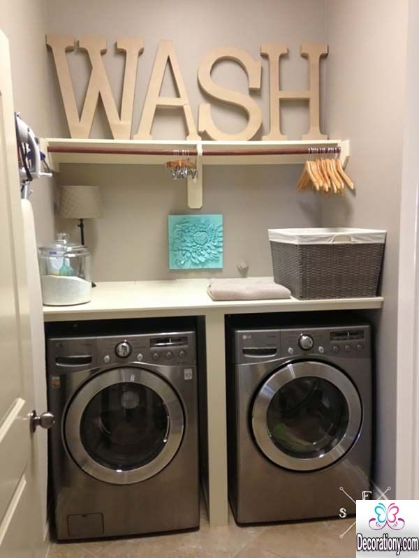 Ultra modern laundry room ideas for a small space for Decorate a laundry room