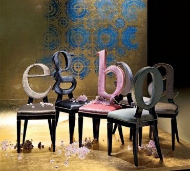 letter chairs design