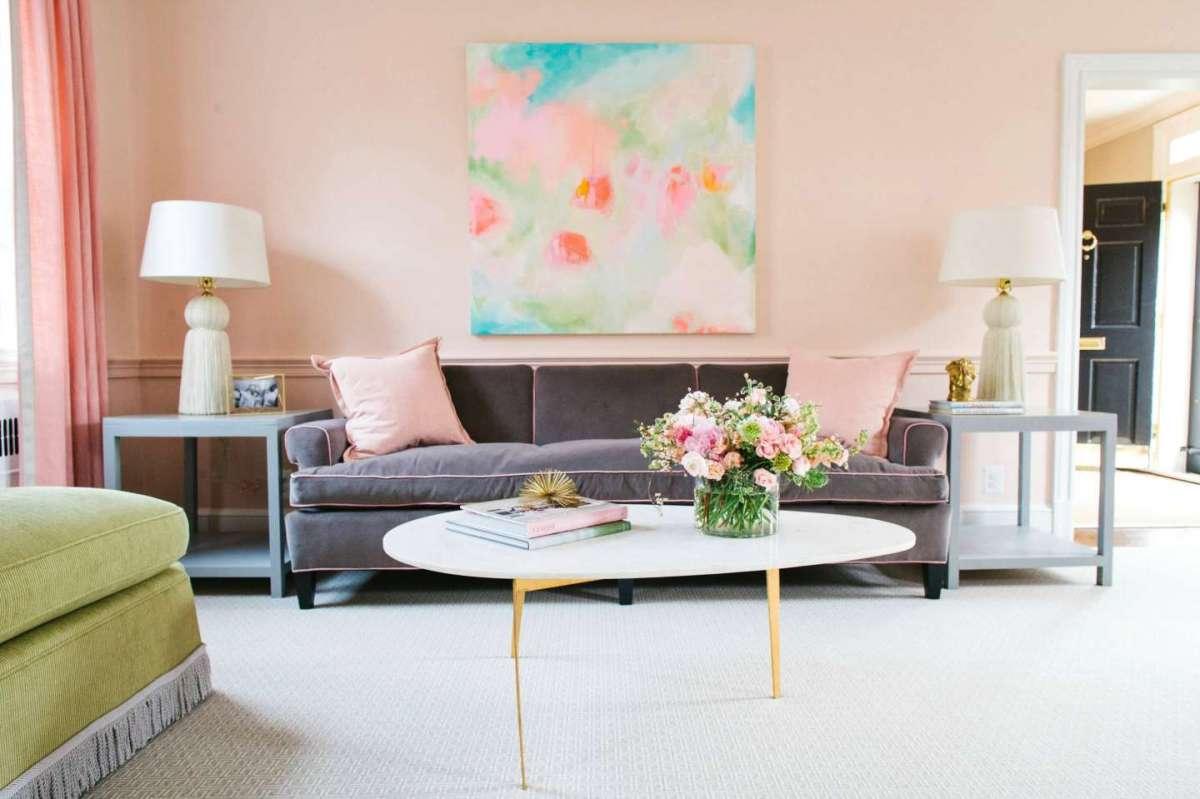 living room summer decoration