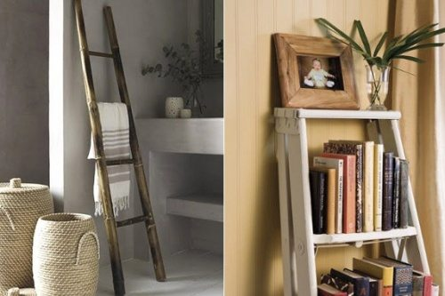 old ladder for home decor