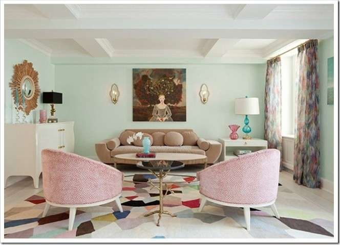 Living room decorating ideas with pastel colors for summer for Living room ideas pastel