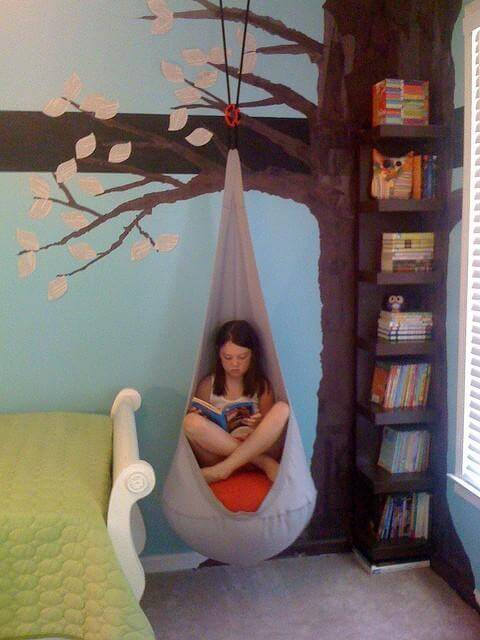 reading swing for kids room