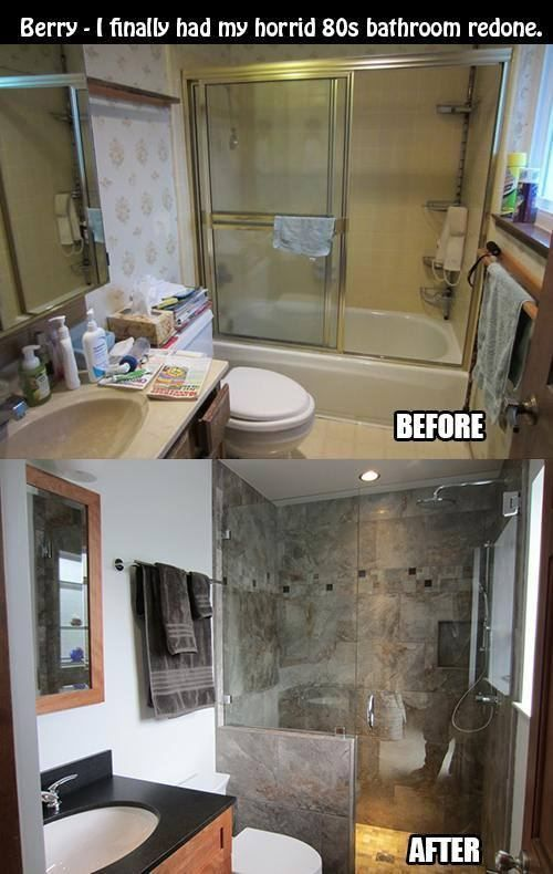 10 before and after bathroom remodel ideas for 2016 2017 for Bathroom images 2016
