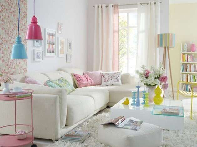Living room decorating ideas with pastel colors for summer for Living room designs 2016