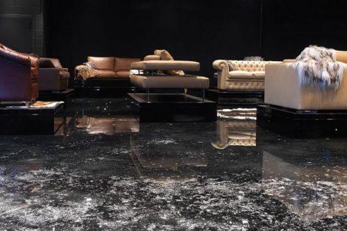 unique living room flooring design
