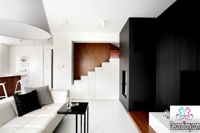 white and black home interior design ideas